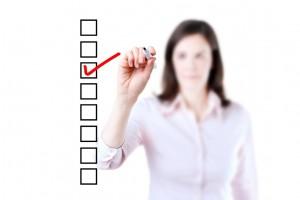 setting up checklist