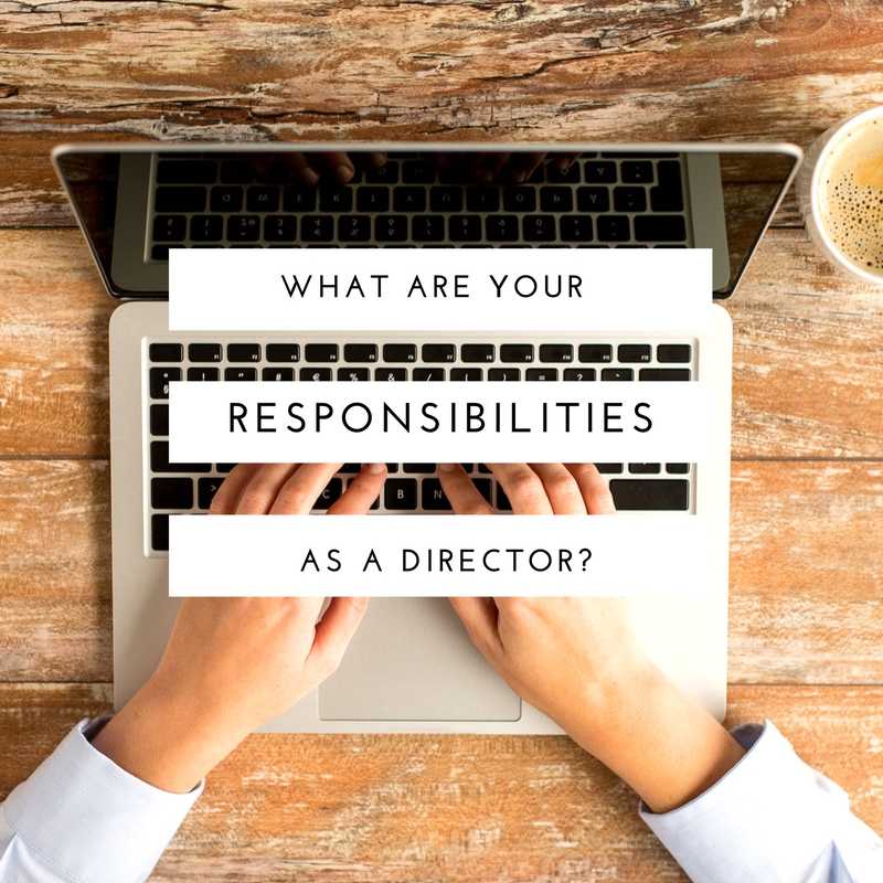 what are your responsibilities as a director